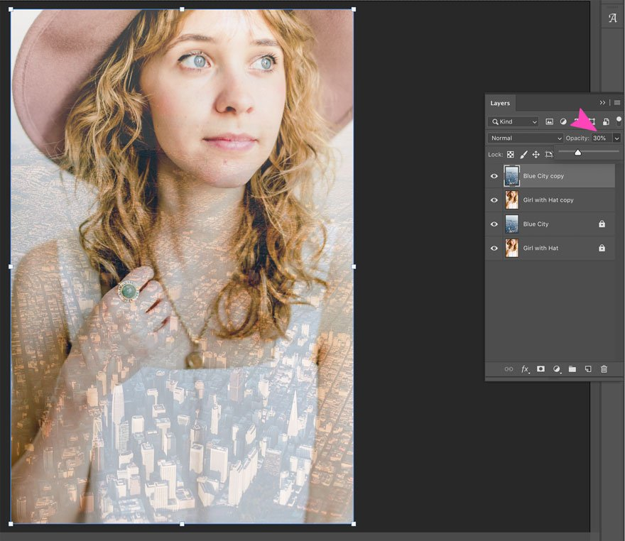 screenshot of photoshop action at 30%