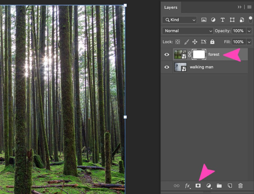 screenshot of photoshop layers