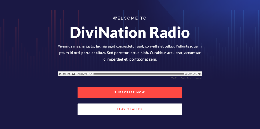 How to Create a Streaming Radio Station with WordPress and Divi