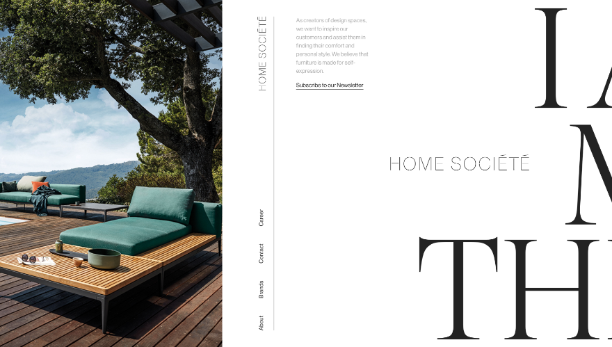 Home Societe Screenshot - Asymmetrical Balance in Web Design
