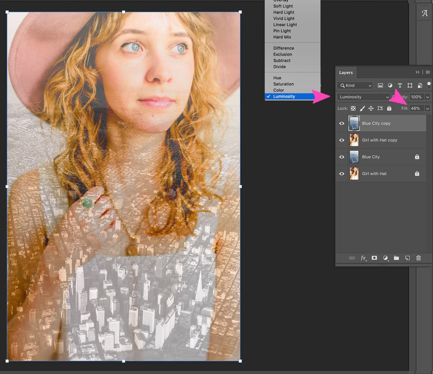 screenshot of photoshop layer blends