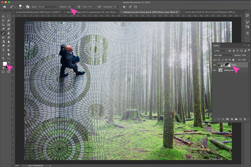 screenshot of a photoshop action