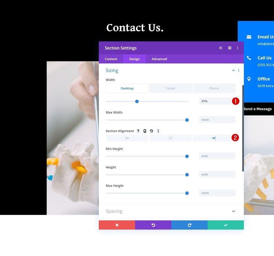 formulario de contacto fijo