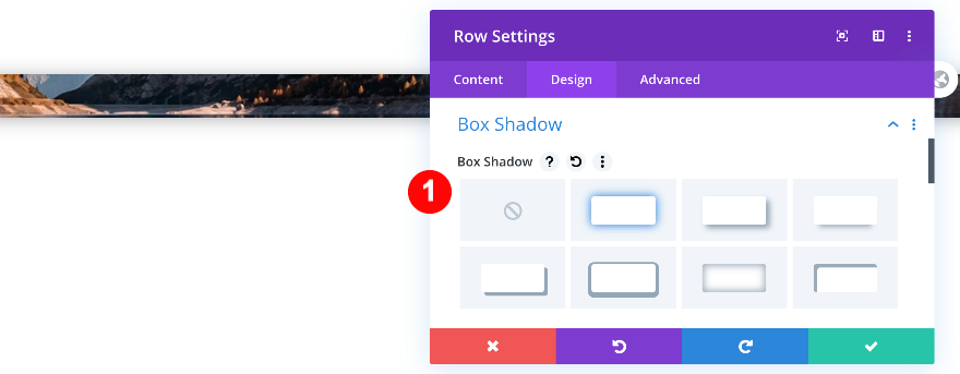 add a box shadow to the section