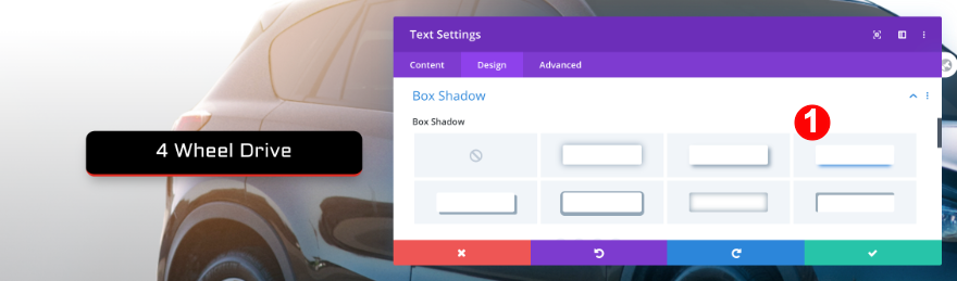 agregar una sombra de cuadro al texto