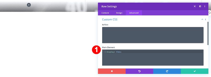 agregue algunos CSS personalizados