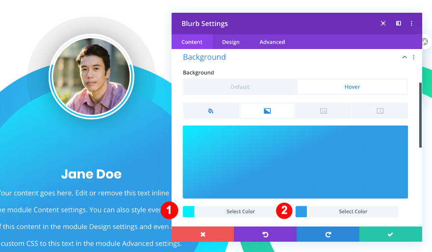 change the blurb background hover gradient