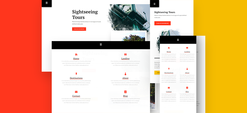 How to Create a Blurb Menu on Hover/Click for Your Page with Divi
