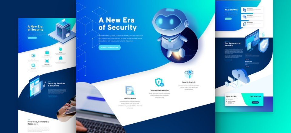 Get a FREE Cyber Security Layout Pack for Divi