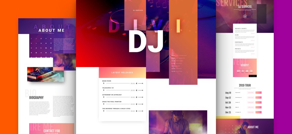 Get a FREE DJ Layout Pack for Divi