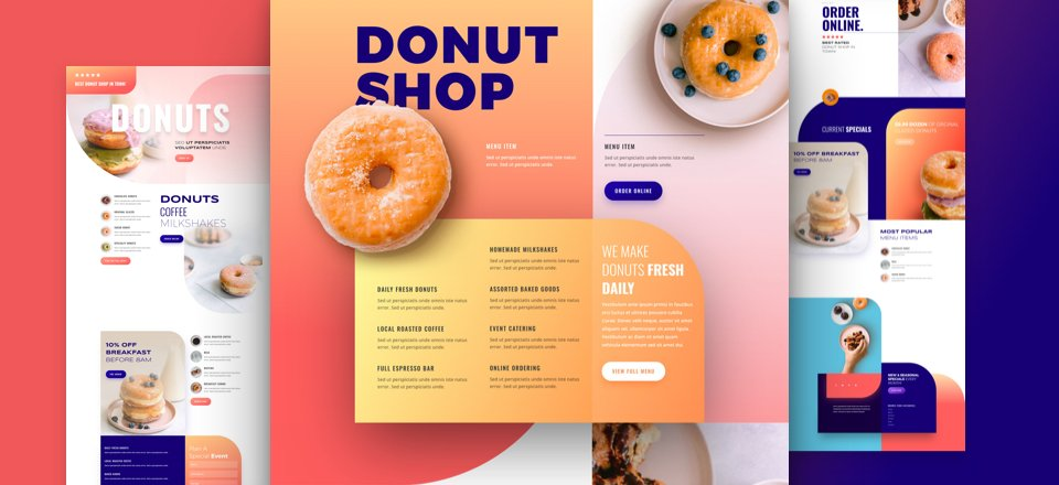 Get a FREE Donut Shop Layout Pack for Divi