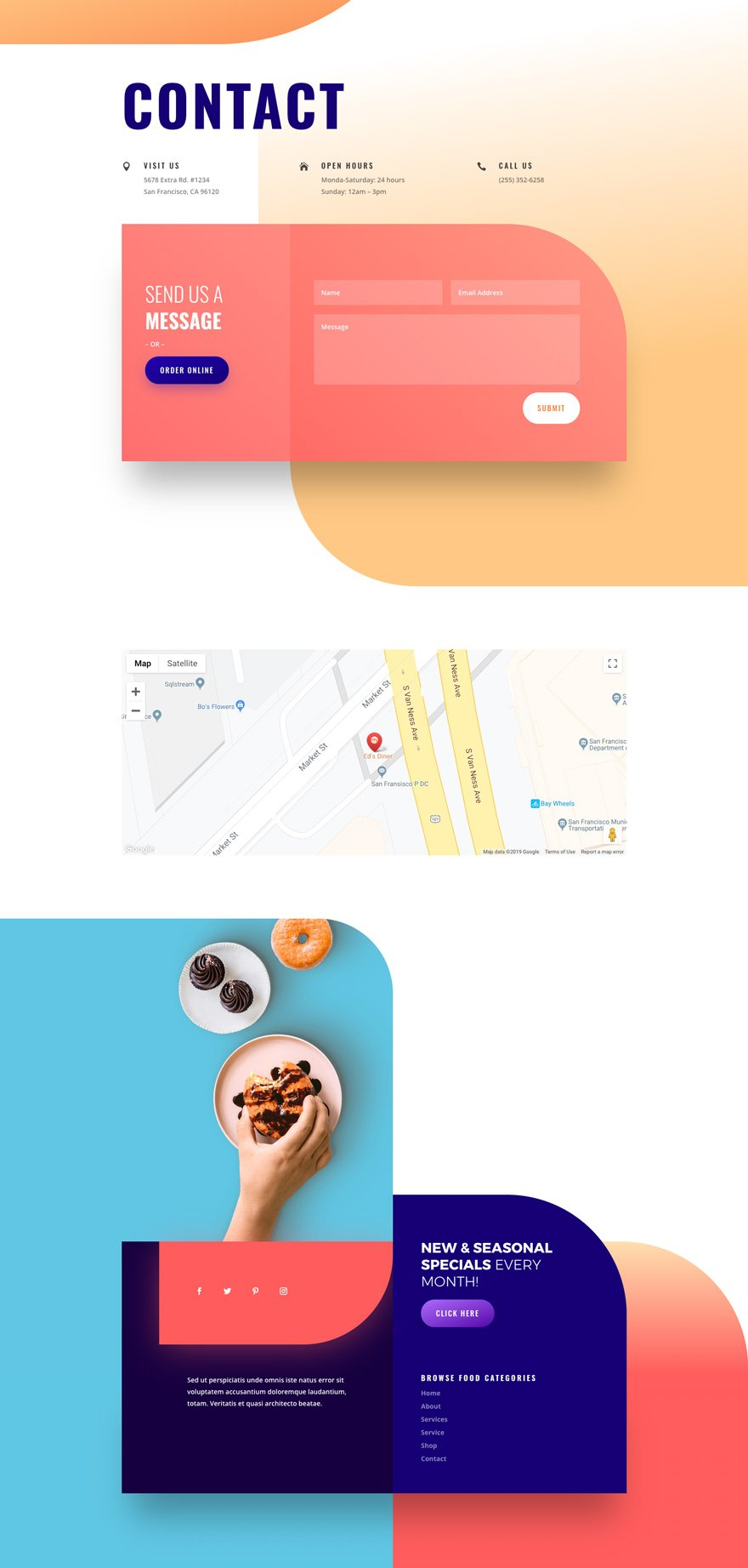 Get a FREE Donut Shop Layout Pack for Divi | 360Brad