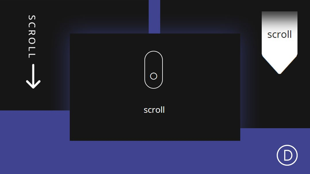 4 Animated Scroll Buttons for Your Divi Site's Hero Section (and How to Create Them)