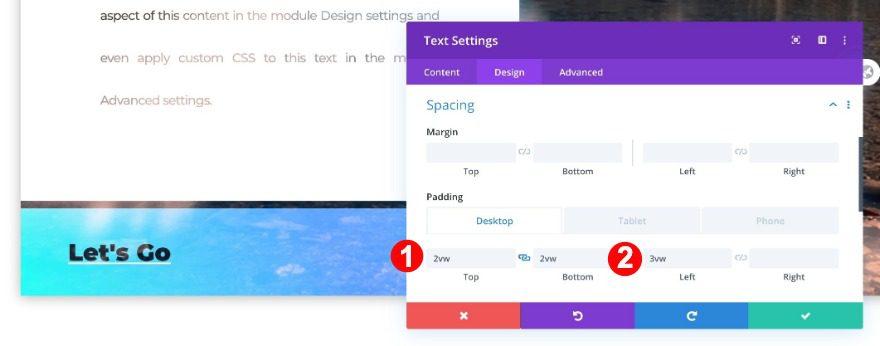 spacing of module three