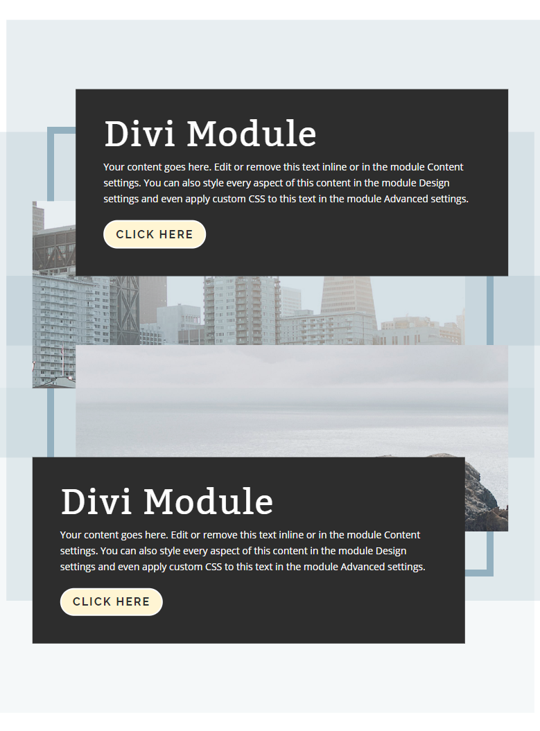 stagger divi columns and modules