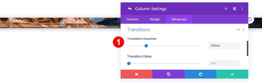 transition duration