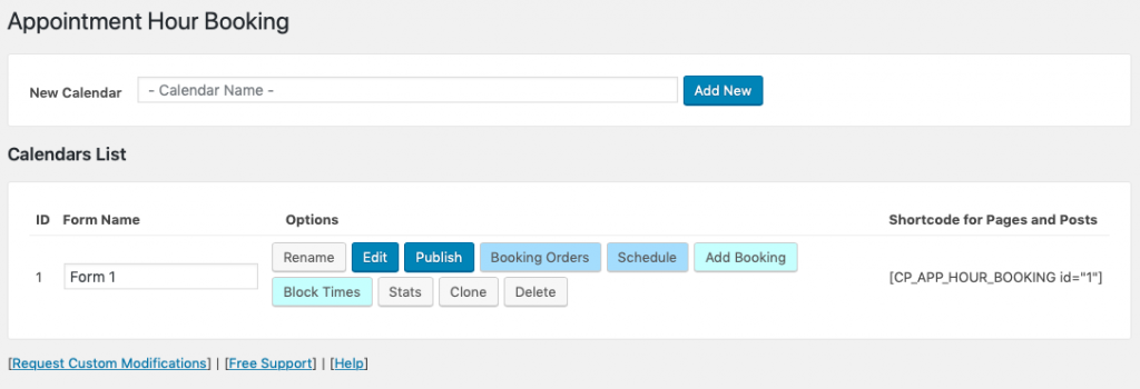 appointment hour booking plugin
