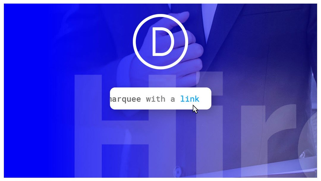 How to Create a Simple Text Marquee with Divi