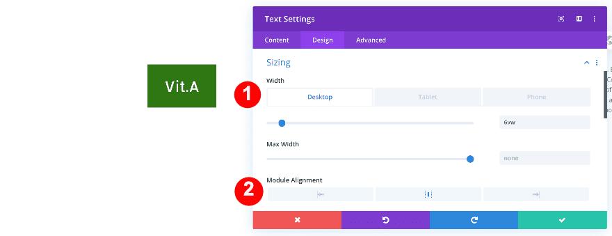 ajustar el ancho del módulo de texto