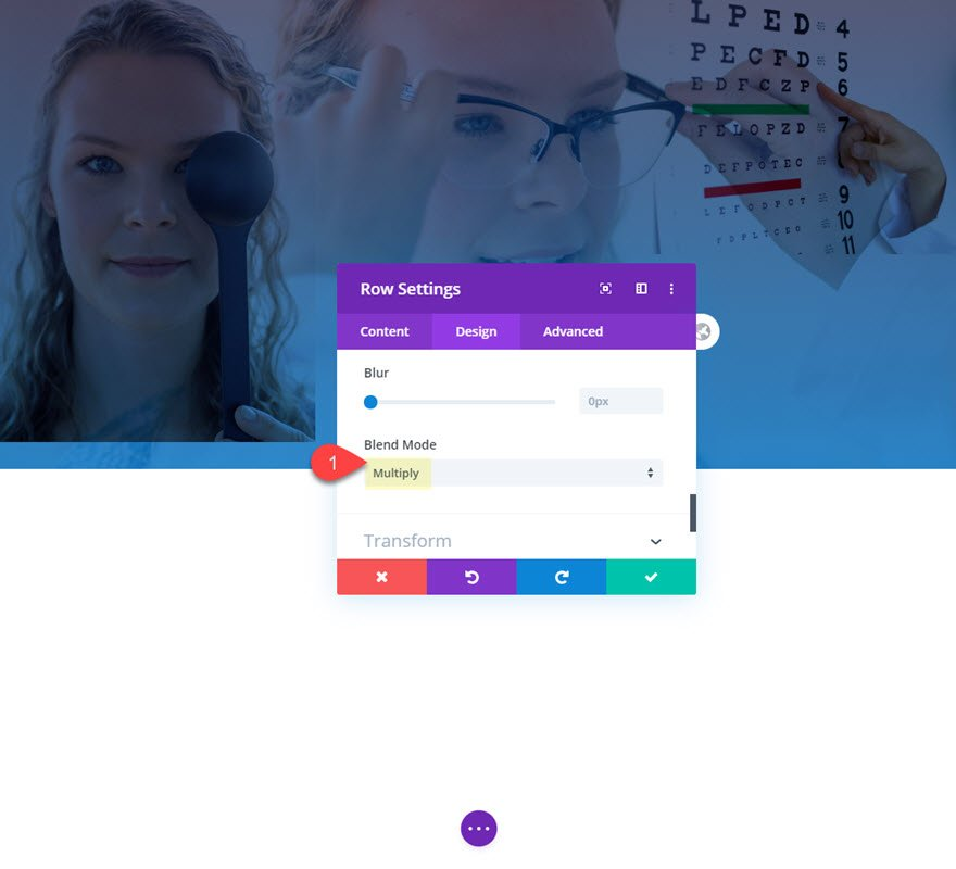 blend images in divi