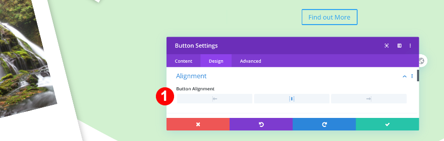 button alignment