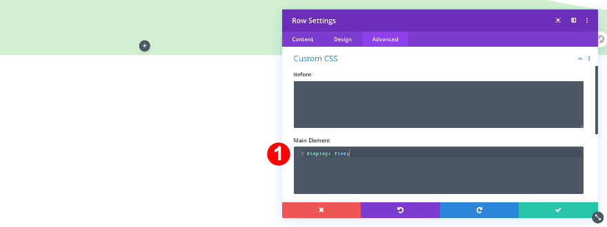 custom css for the 3 column row