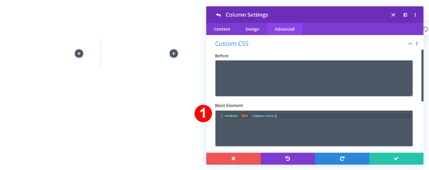 CSS personalizado para todas las columnas