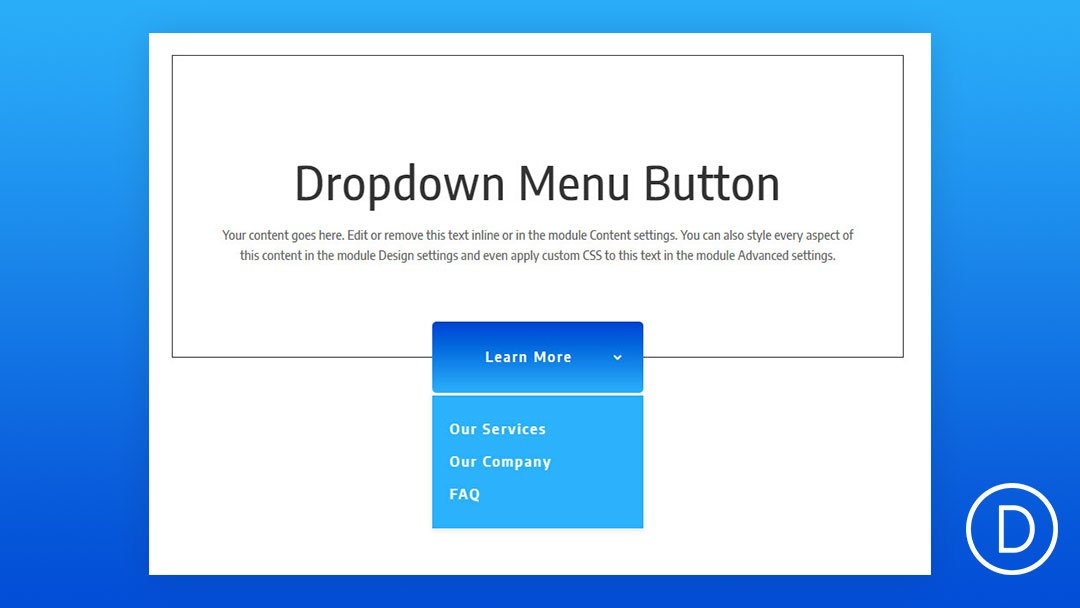 How to Create a Dropdown Menu Button Using Divi's Fullwidth Menu Module