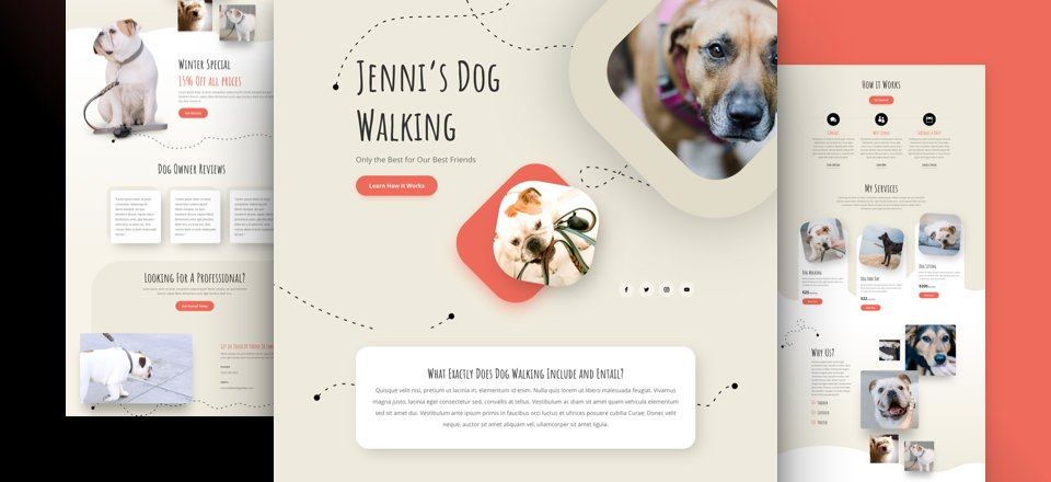 Get a FREE Dog Walker Layout Pack for Divi