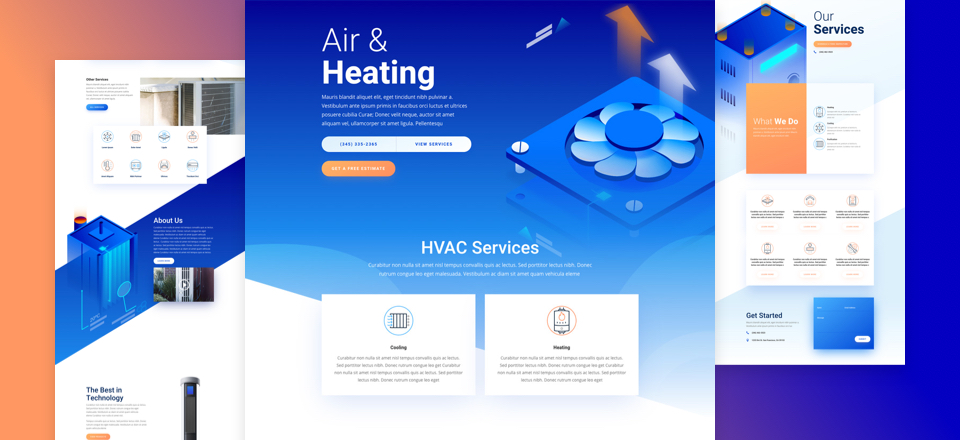 Get a Free HVAC Layout Pack for Divi