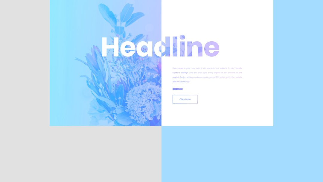 How to Create a Split Blend Mode Headline with Divi