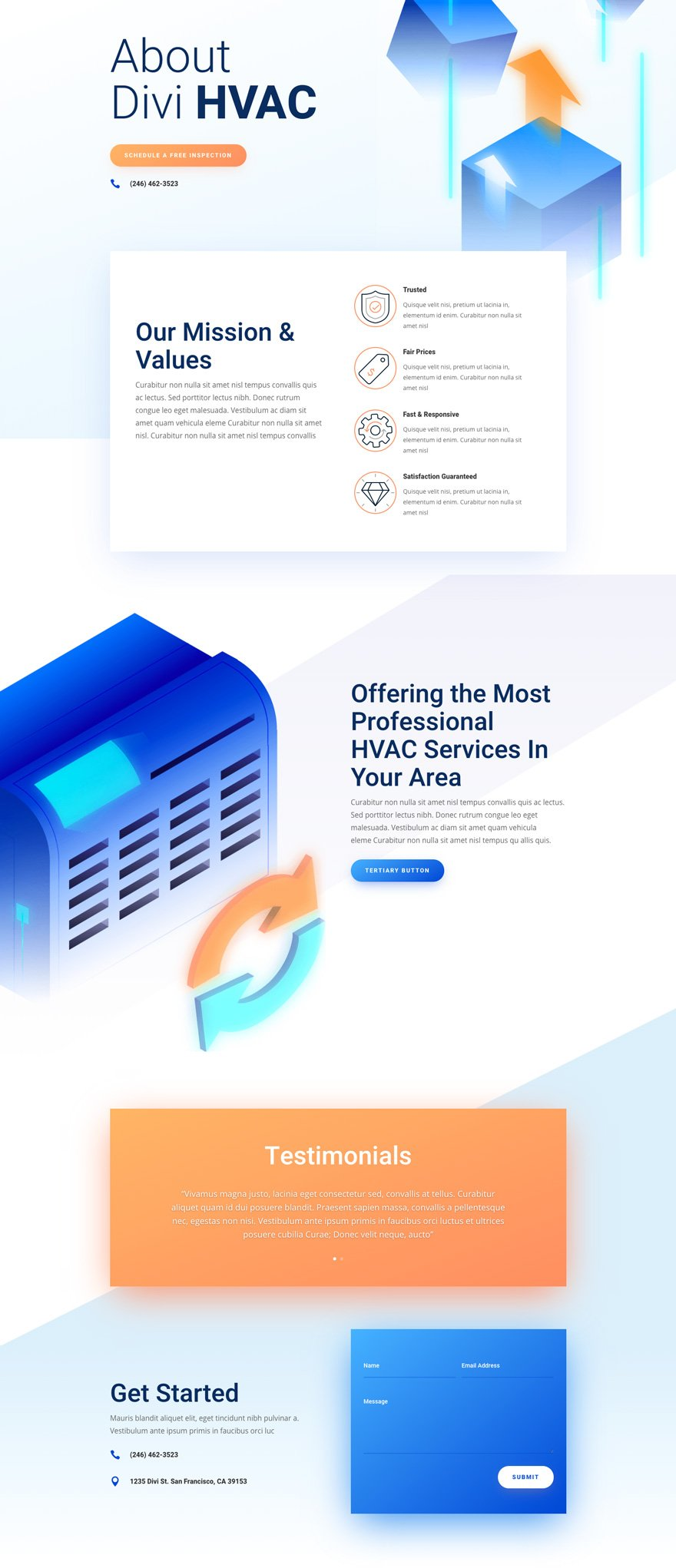 divi hvac layout pack