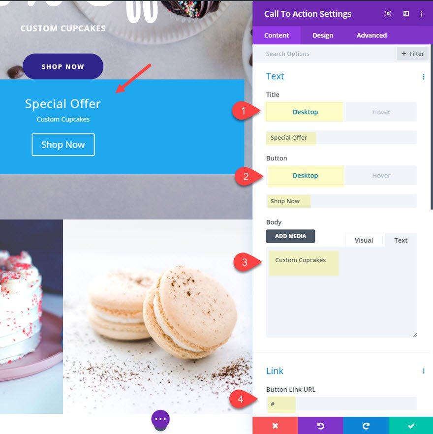 divi change content on hover