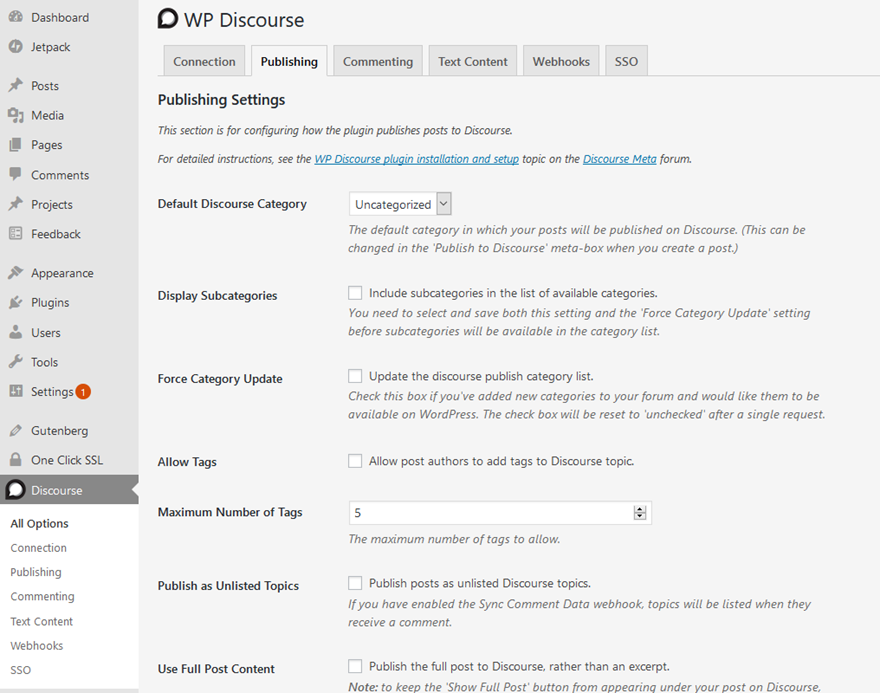 WordPress Discourse Forums