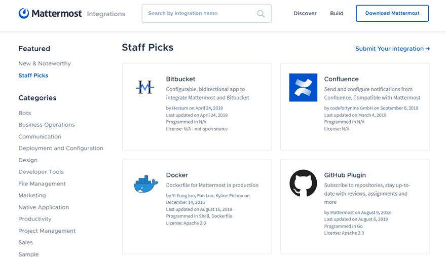 Mattermost Open-Source Team Chat App
