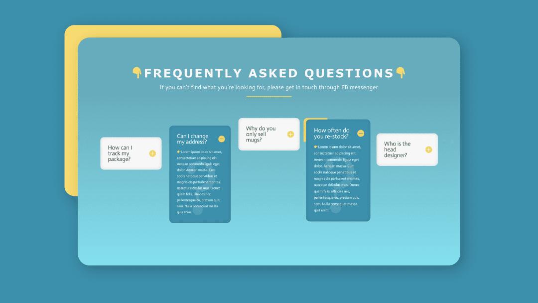 Creating Unique Column FAQ Designs with Divi