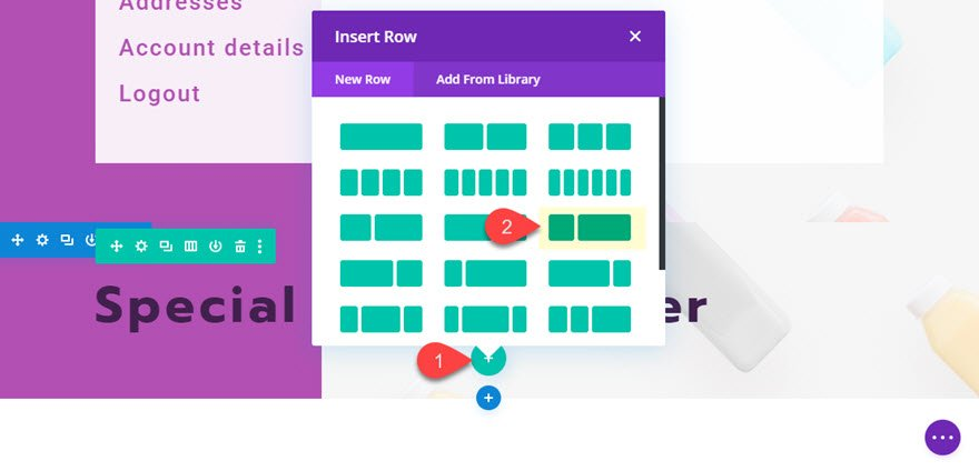 divi featured product section