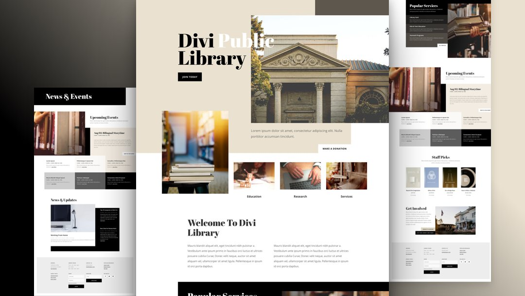 Get a FREE Library Layout Pack for Divi