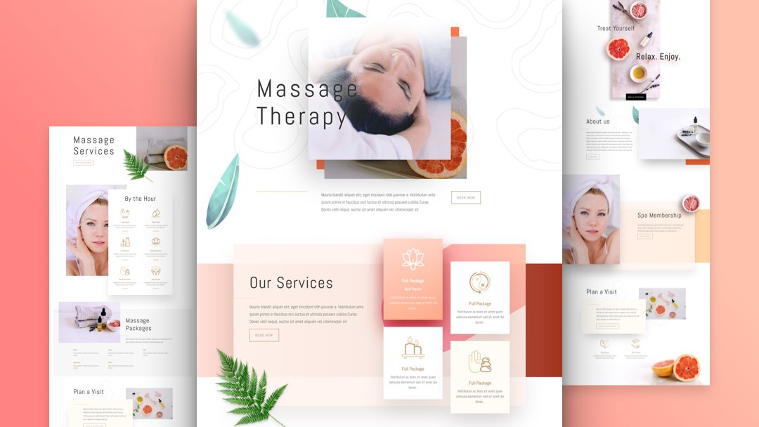 Get a FREE Massage Therapy Layout Pack for Divi