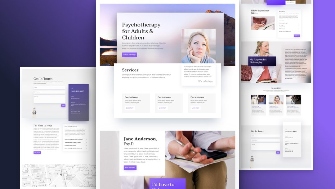 Get a FREE Psychologist Layout Pack for Divi