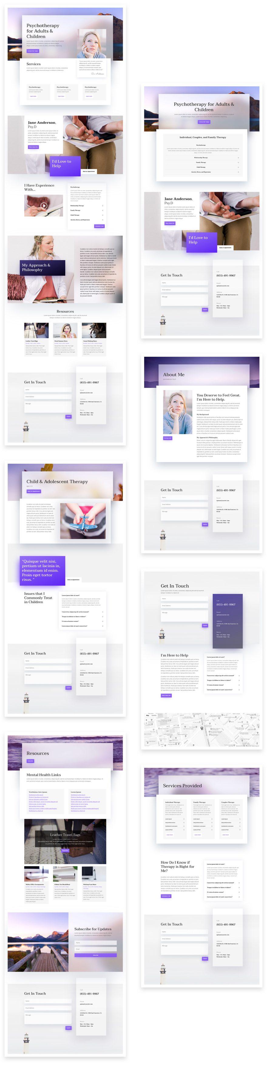 divi psychologist layout pack