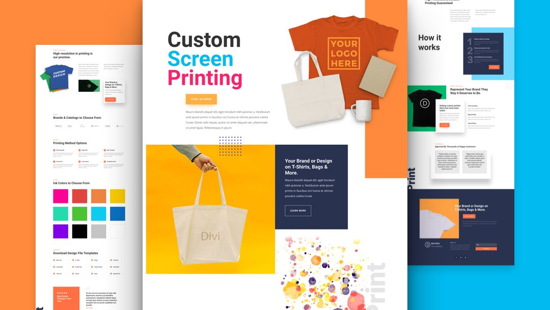 Get a FREE Screen Printing Layout Pack for Divi
