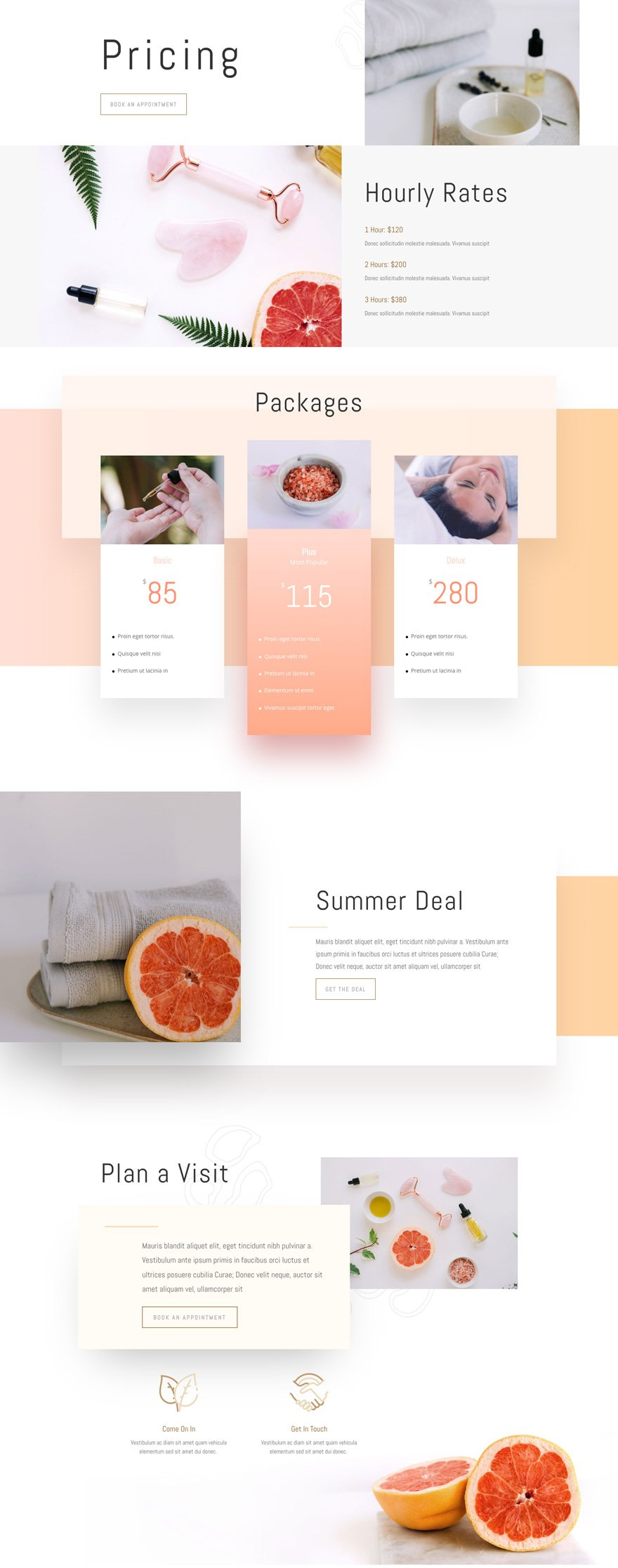 divi massage therapy layout pack