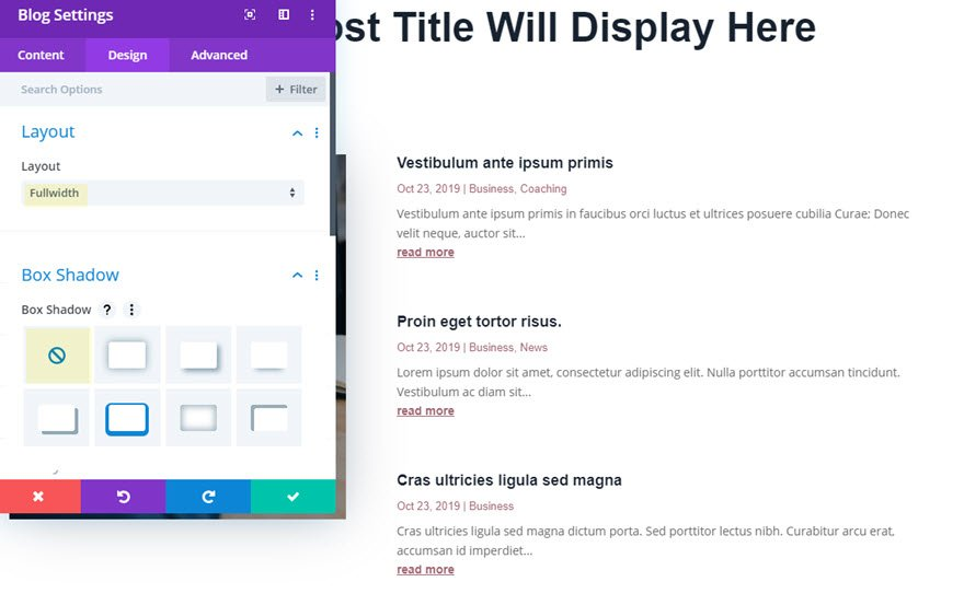 divi category page template