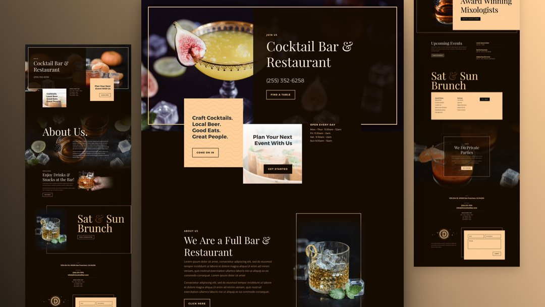 Get a FREE Bar Layout Pack for Divi