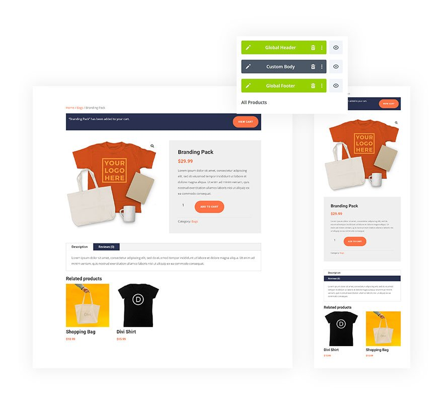 product page template
