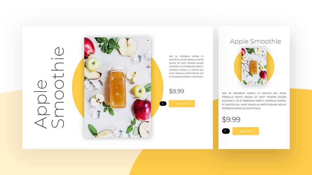 Download a Beautiful Fullscreen Product Page for Divi