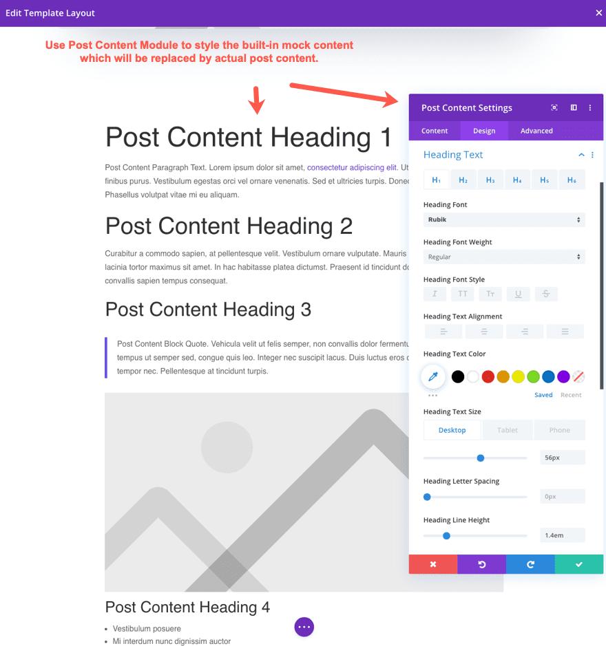 Módulo de contenido Divi Post