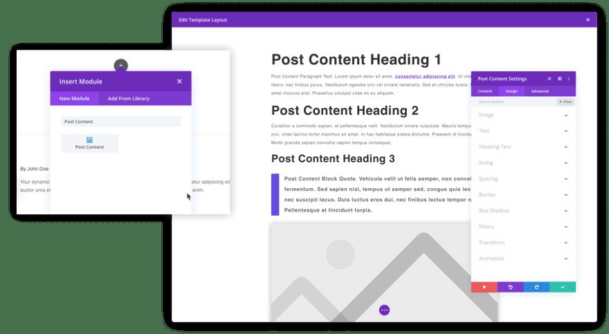 Divi Post Content Module