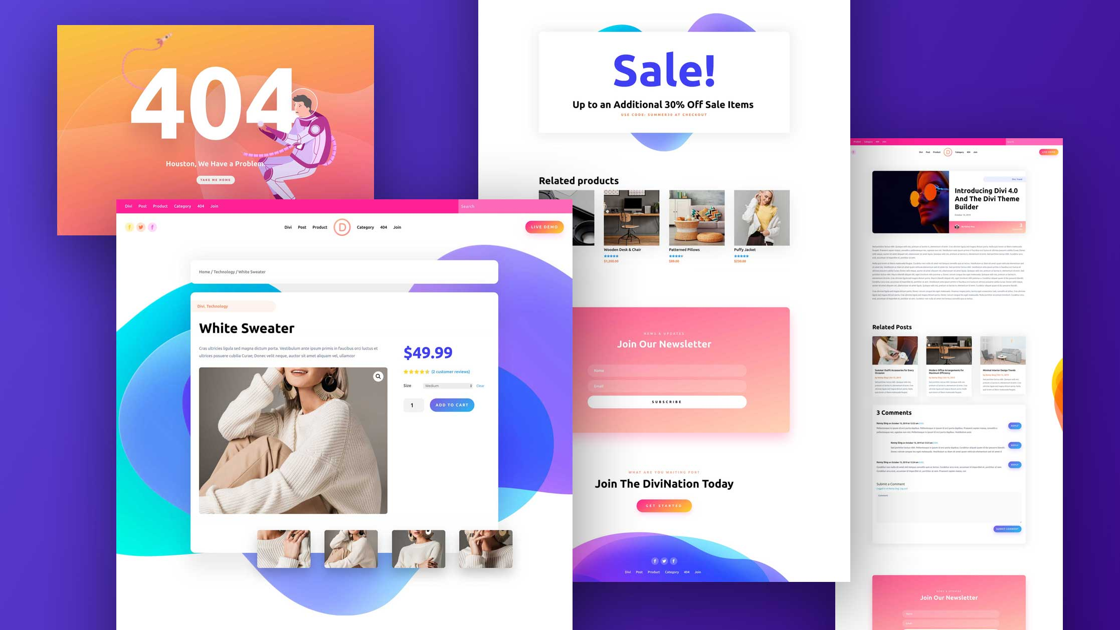 Download The Sixth Free Theme Builder Pack For Divi Elegant Themes Blog